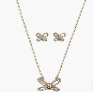 J. Crew Bow Necklace & Earring Gift Box